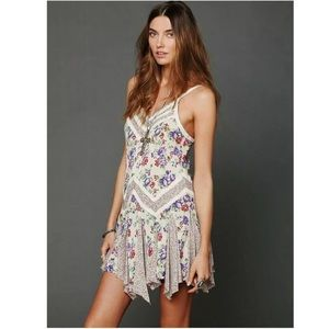 Free People In & Out Ditsy Floral Slip Boho Dress